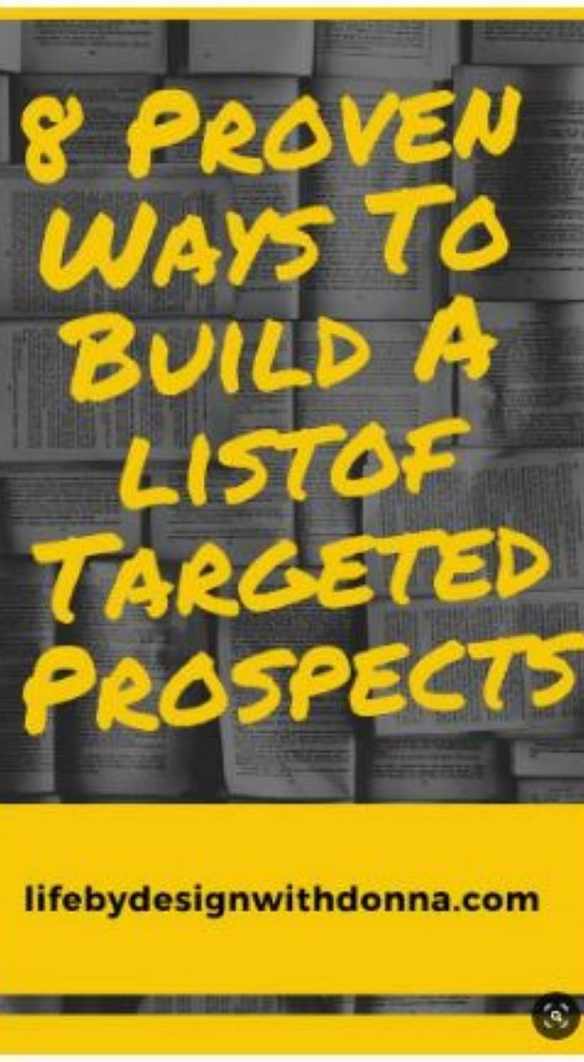 8 proven ways to build a list of targeted prospects