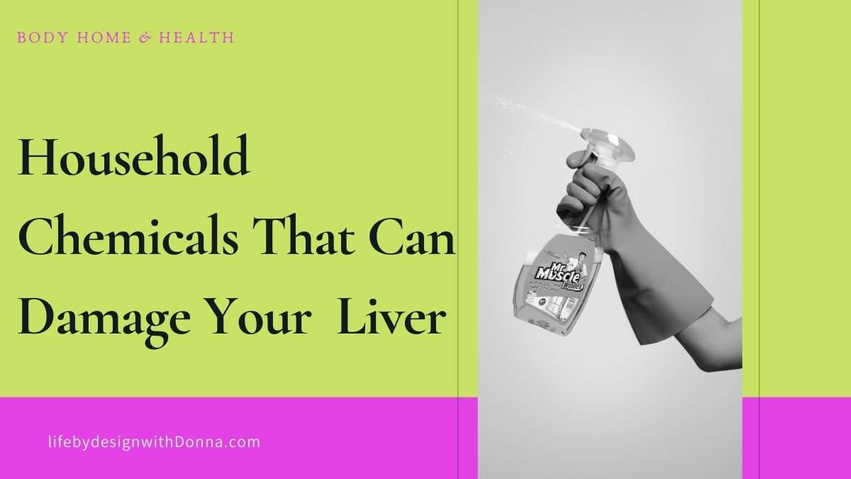 Household cleaners that can damge your liver