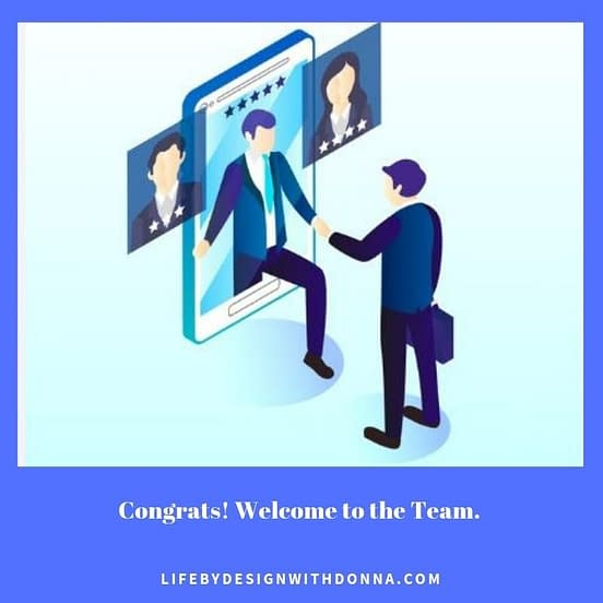 Congrats, welcome to the team using attraction marketing