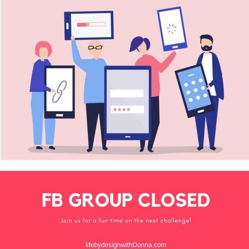 character of people representing facebook group members.