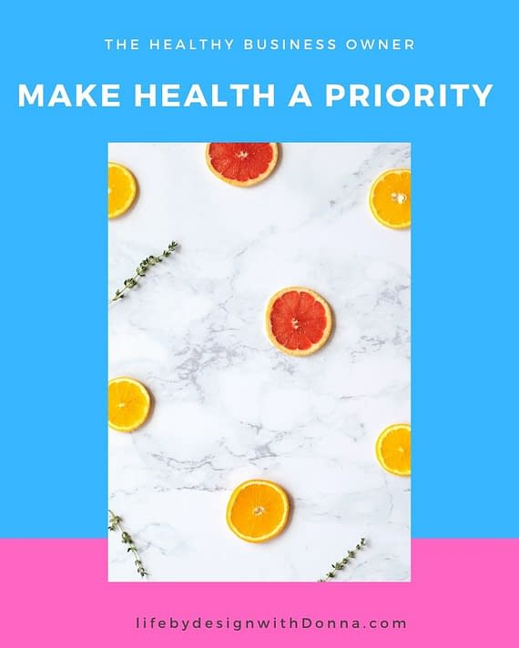 make health a priority
